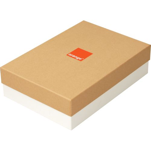 Cutie Rigid Box 34x23.5x9 personalizata Orange - Click Image to Close